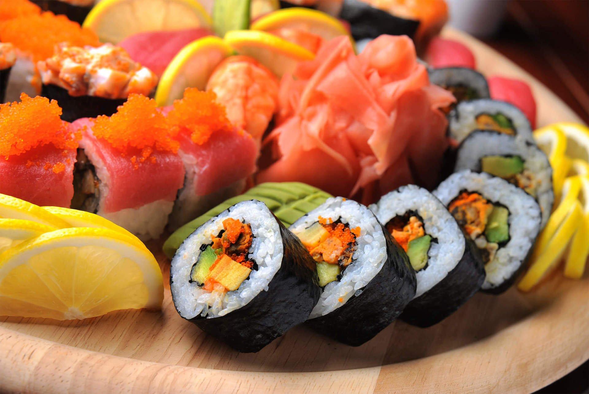 piatto misto di sushi