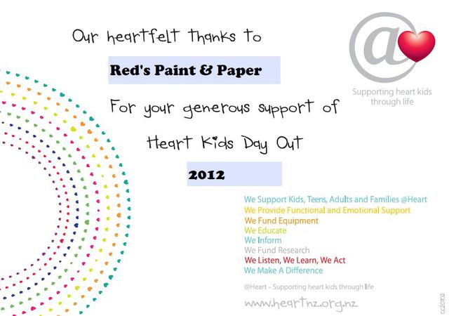 Red paint & paper promotion