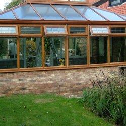 Wooden framed conservatory