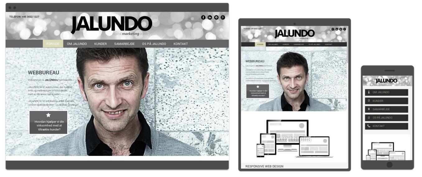 responsive web design - mobiltilpasset hjemmeside
