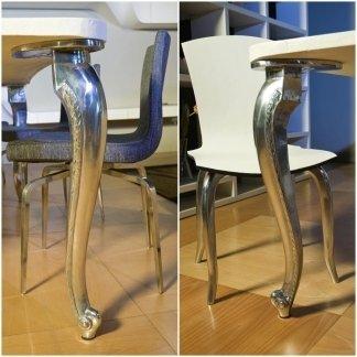 tavolino gambe legno
