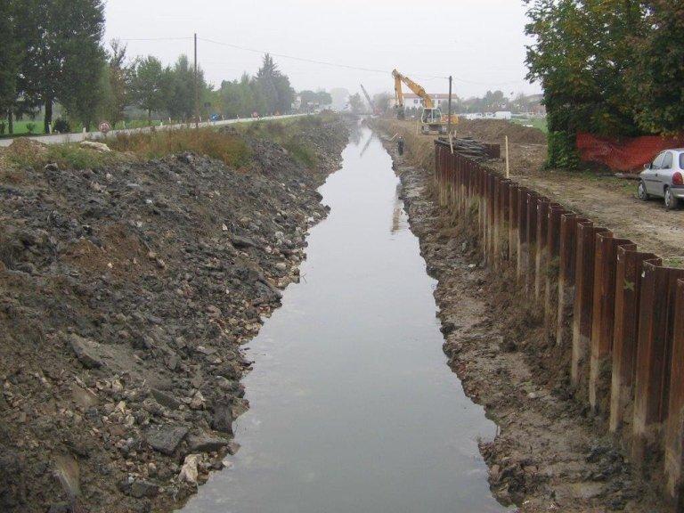 Risezionamento fluviale – Provincia di Padova – 2012