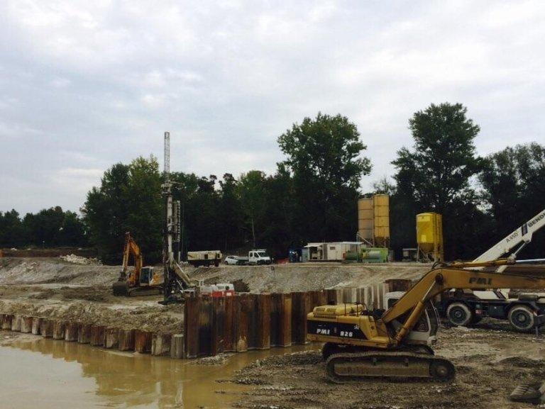 Centrale idroelettrica sul fiume Adda – provincia di Lodi – 2015