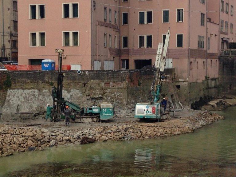 Messa in sicurezza muro di contenimento – provincia di Padova – 2014