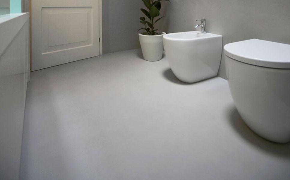 pavimento per bagno in resina