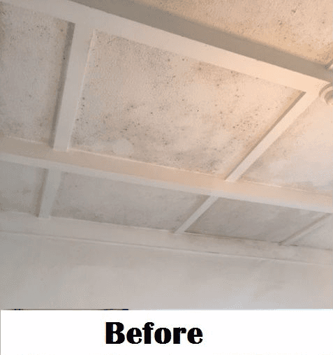 Ceiling before cleaning service