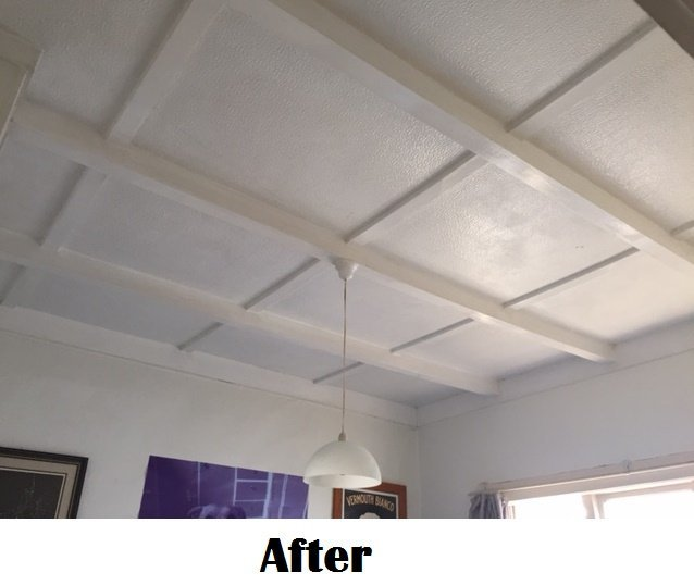ceiling after cleaning