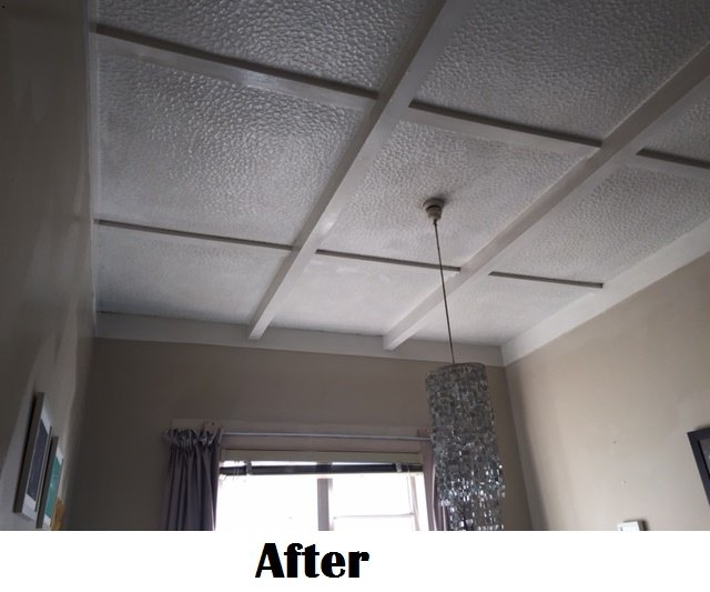 ceiling after the clean