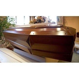 cofano funebre legno di mogano