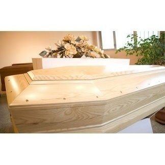 cofano funebre bianco