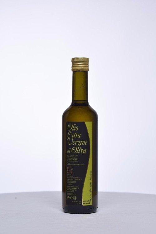 una bottiglia di olio extra vergine di oliva  -058 una bottiglia di vino Marzemino, Cabernet Sauvignon e rose'