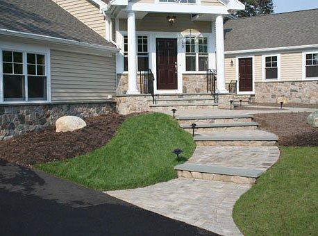 Cultured Stone Patio Walkway Siding Installation