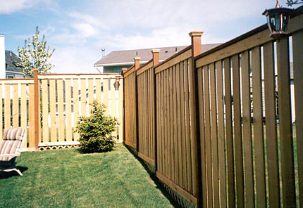 inside the garden with nice fence