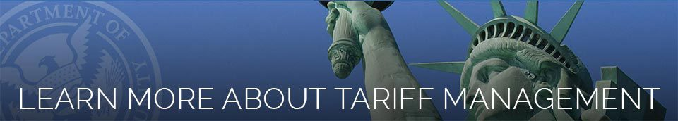 Learn More About Tariff Management