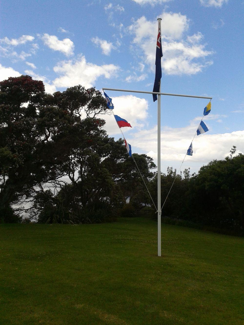 Custom fabrication of Nautical flagpoles