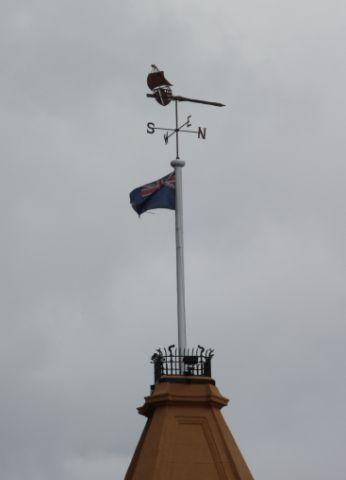 Installation of flagpole & structural steel reinstatement