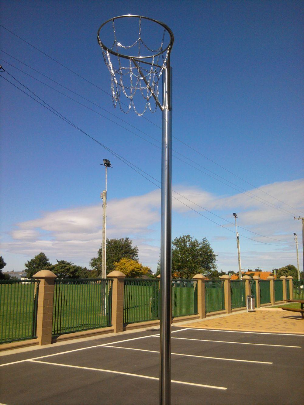 Stainless steel netball post & mesh