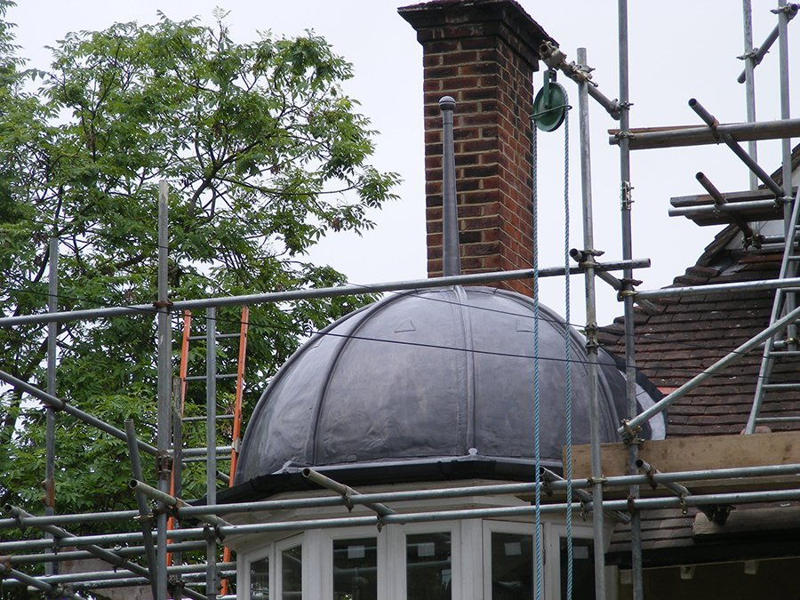 Dome and finial:  lead sheet – Snaresbrook