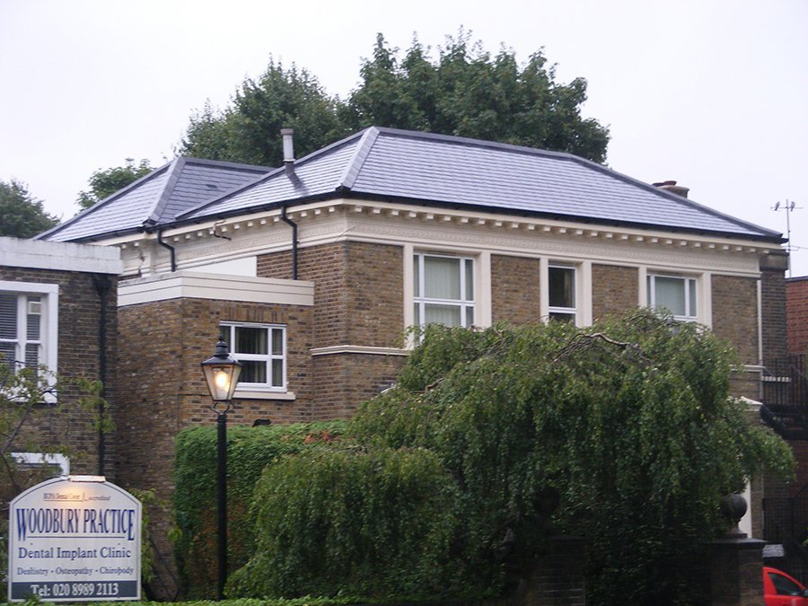 Re-roof:  natural Spanish slate – Snaresbrook