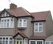 Re-roof:  mixed brindle clay plain tiles – Ilford