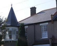 Re-roof:  natural Spanish slate – Whipps Cross