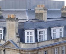 Re-roof:  natural Argentine slate and lead work – London W1
