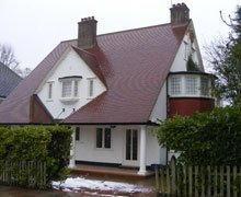 Re-roof:  mixed brindle clay plain tiles – Hampstead