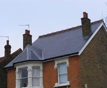 Re-roof:  natural Spanish slate – Wanstead