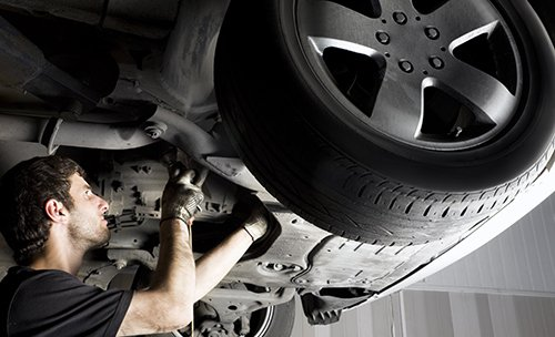 Auto repair in progress in Newark, OH