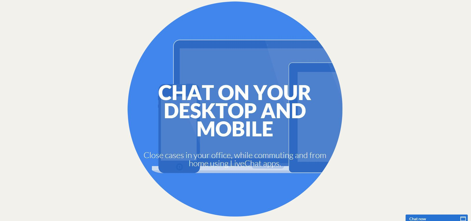 live chat on mobile and desktop
