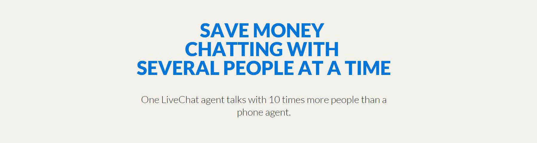 save time and money with live chat