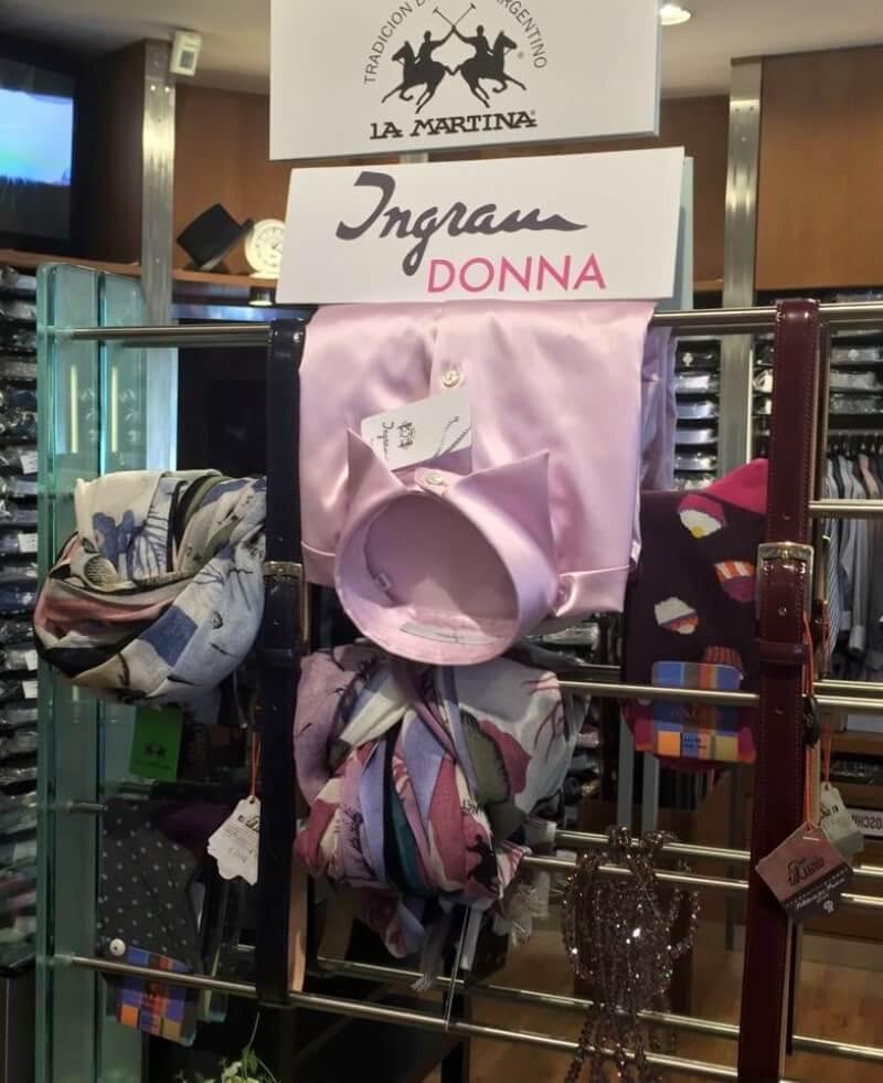 esposizione di camicia rosa da donna ingram