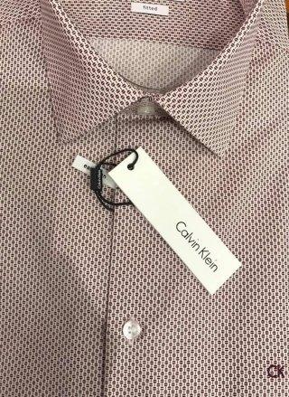 camicia fantasia rosa calvin klein