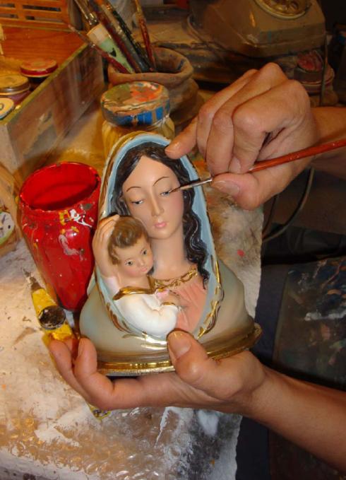 decorazione statue sacre in gesso