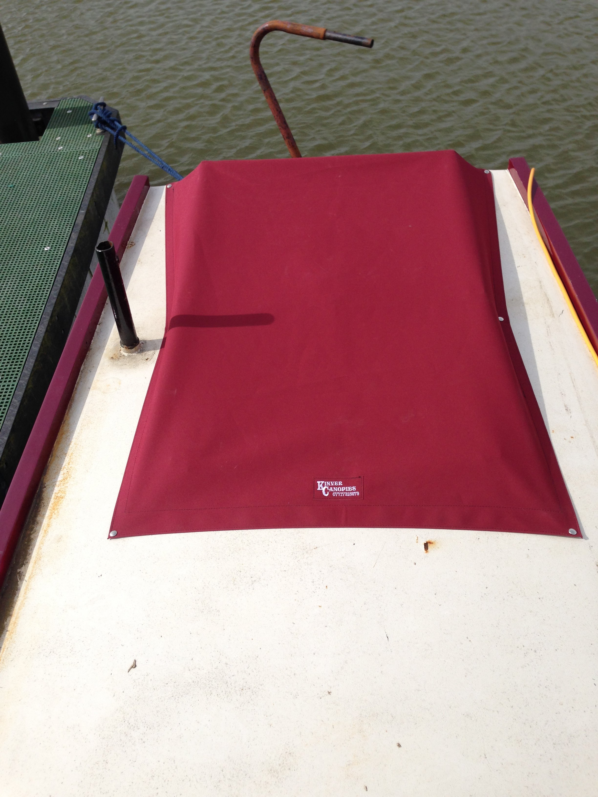 Narrowboat Hatch and rail cover