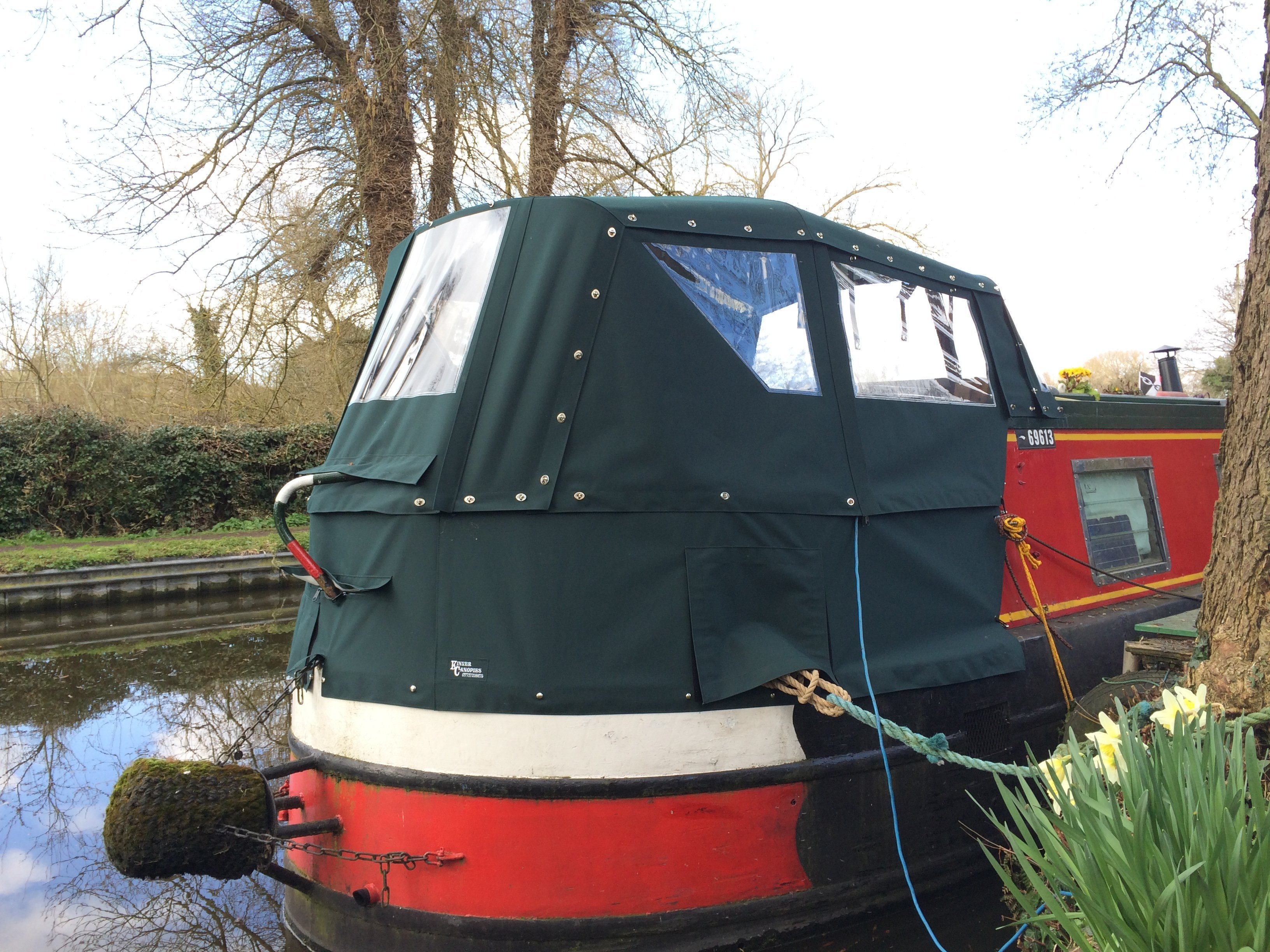 Kinver Canopies narrowboat pram cover