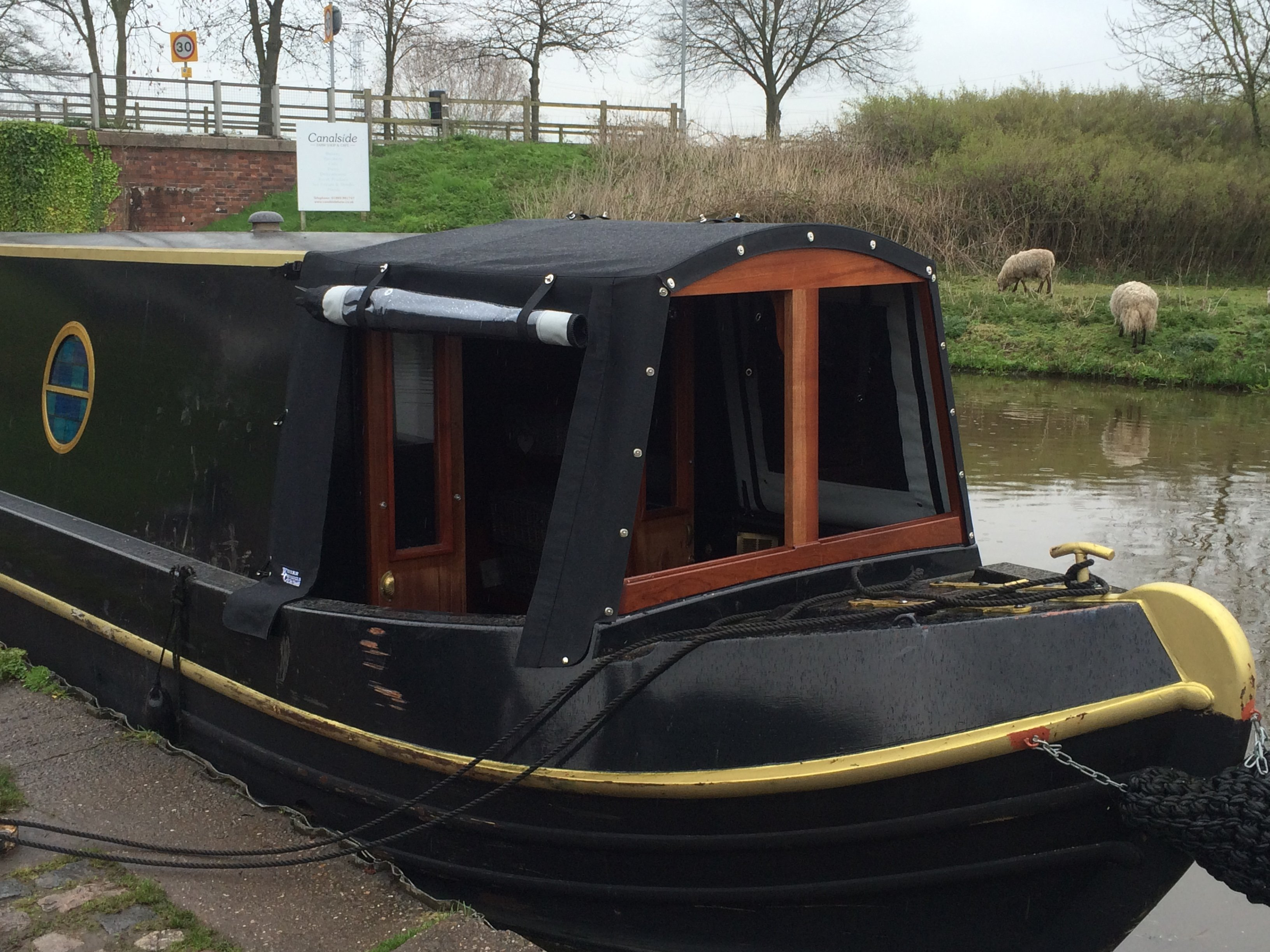 Cratch covers cratch boards framed cratch covers. Its all here. Kinver canopies ... & Customised narrowboat and wide beam covers in the UK