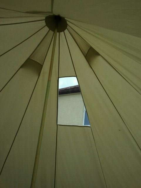Bell tent window Bespoke boat art