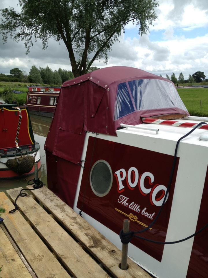 smallKinver Canopies narrowboat pram cover