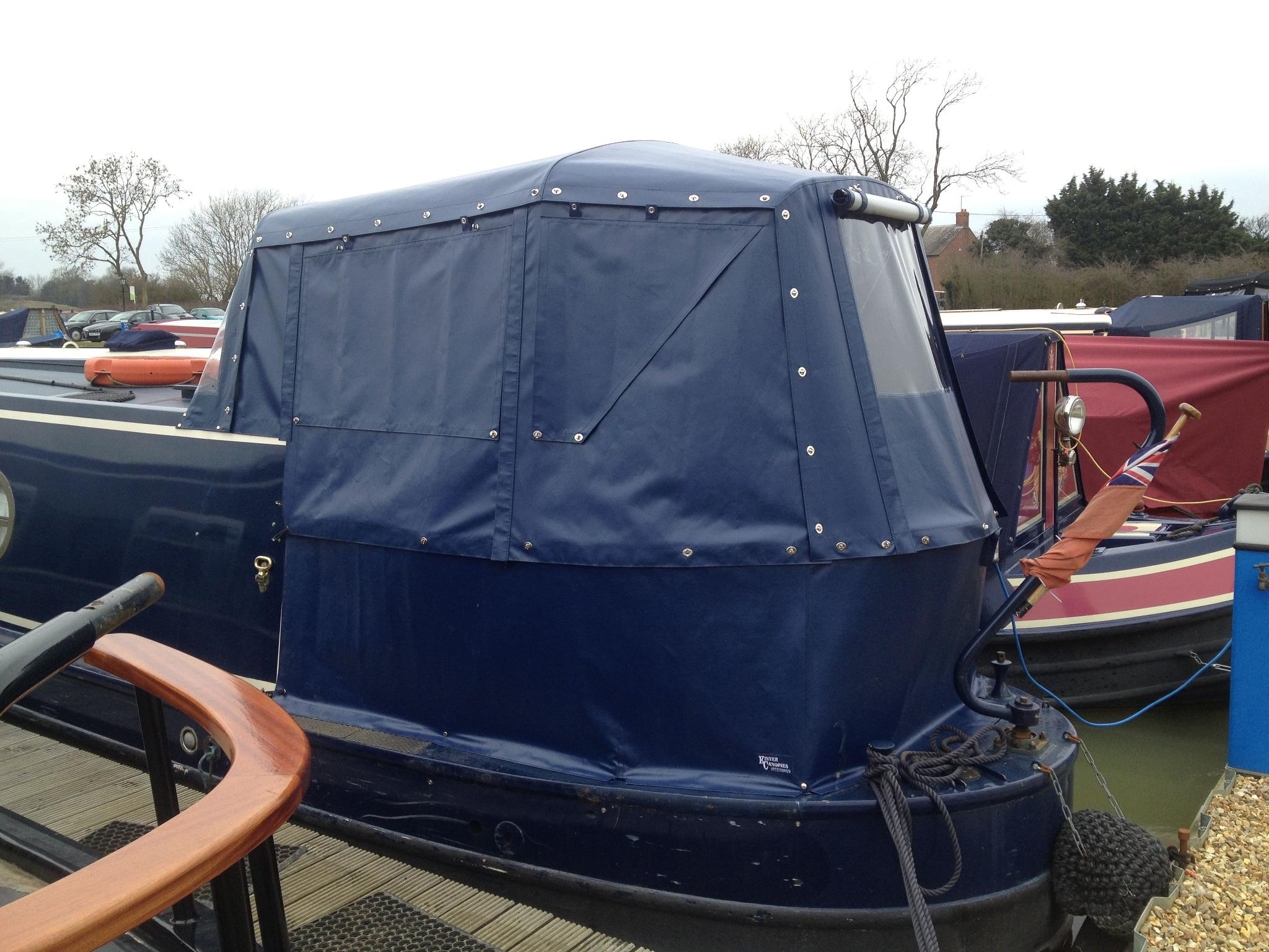 Kinver Canopies narrowboat pram cover pvc