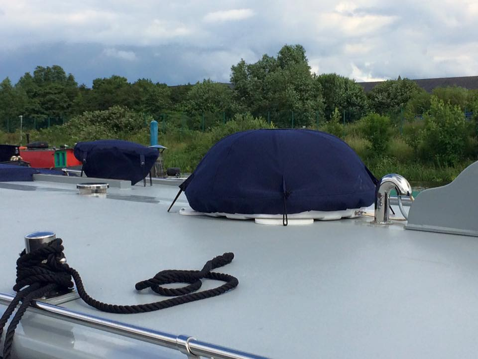 Narrowboat satellite dish cover