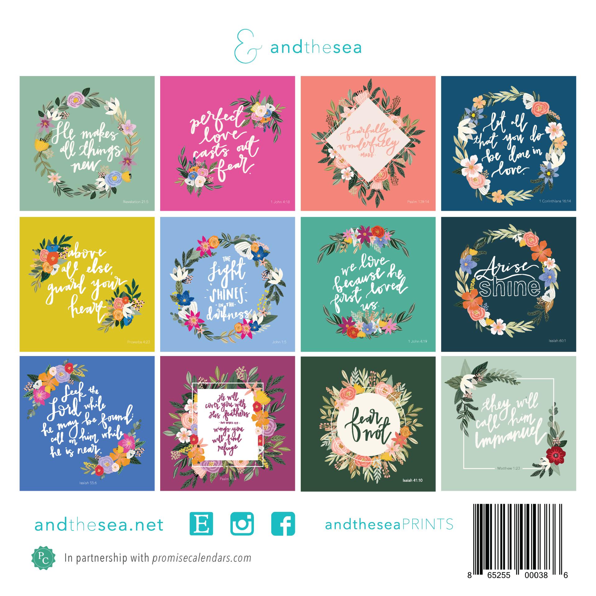 Floral Hand-lettered Christian Calendar