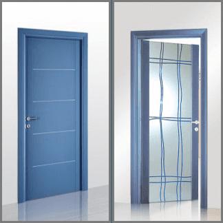 porte in laccato blu