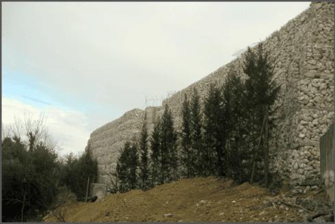 muraglia di gabbioni