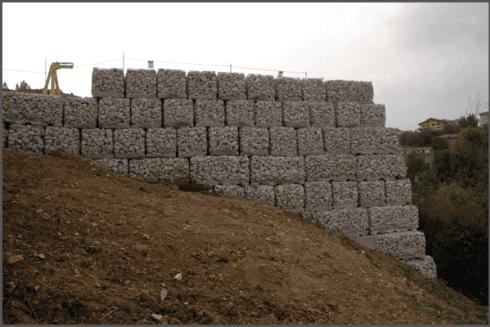 muro con gabbioni