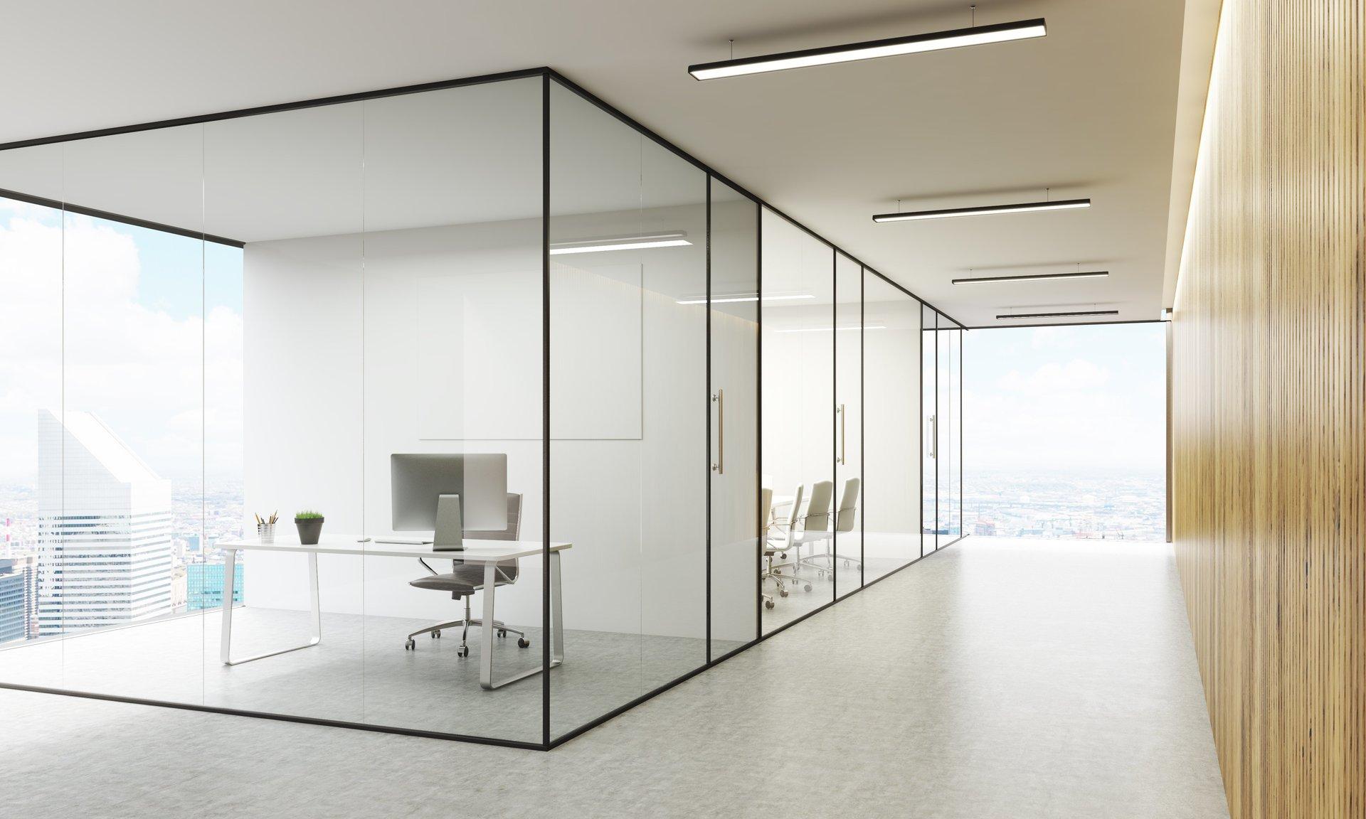 Soluzioni in vetro per uffici, modello 2