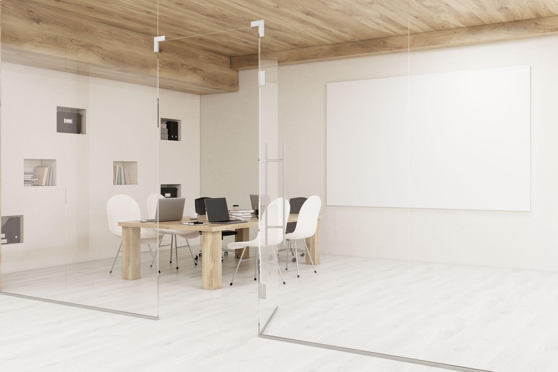Soluzioni in vetro per uffici, modello 3