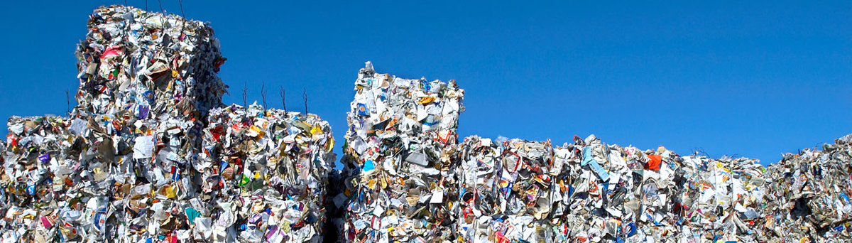 Large pile of compacted waste