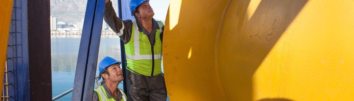 Engineers working on marine hydraulics