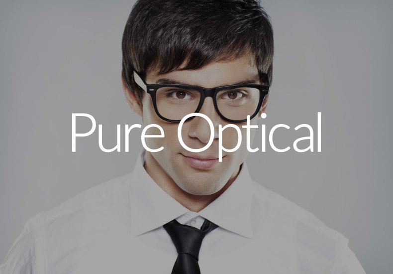 pure optical logo